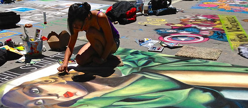 chalk art festival in denver
