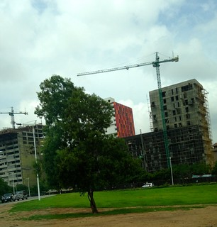 All of Accra is under construction, seems like sometimes.