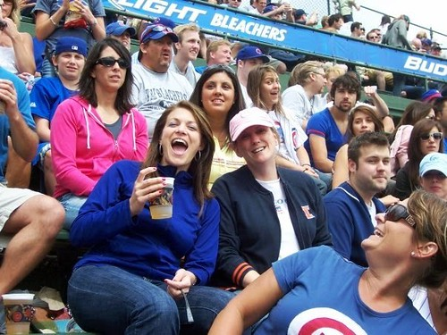 Cubs Fans having fun