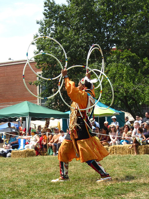 conch woman, a hoop dancer