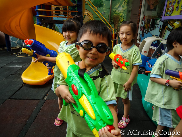 Watergun Fight Teach English Abroad
