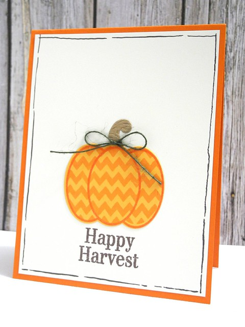 Zig Zag Harvest Pumpkin