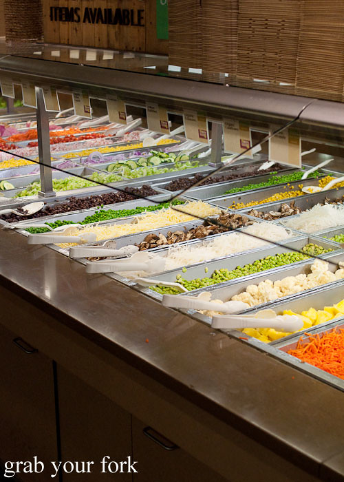 self-serve salad at whole foods market flagship store supermarket groceries austin texas