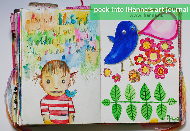 Art Journal: Hey mr Bluebird