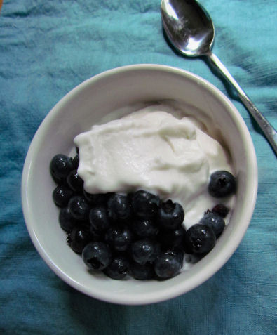 Coconut Milk Ice Cream Blueberries