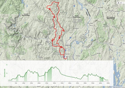 Ride map and elevation profile