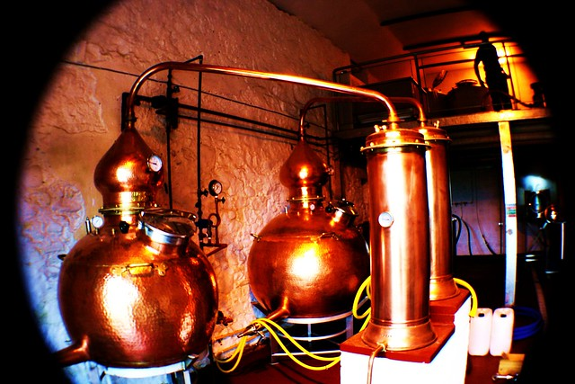 Stills at Strathearn Distillery, Central Scotland