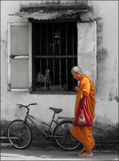 Monk in Old Phuket Town