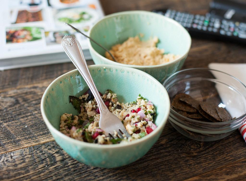 pomegranate, nut, and green herb quinoa – Felicia C. Sullivan