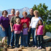Family shot with Long's Peak by Claytonia