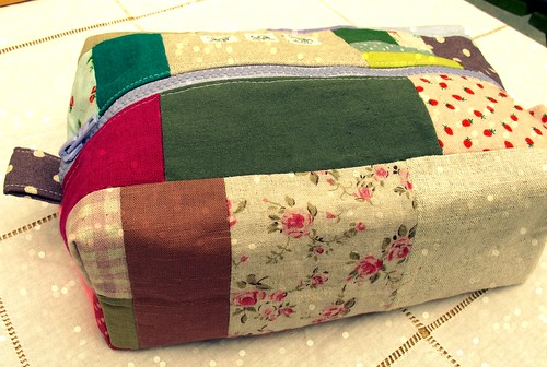 Patchwork Toilet Boxed Bag