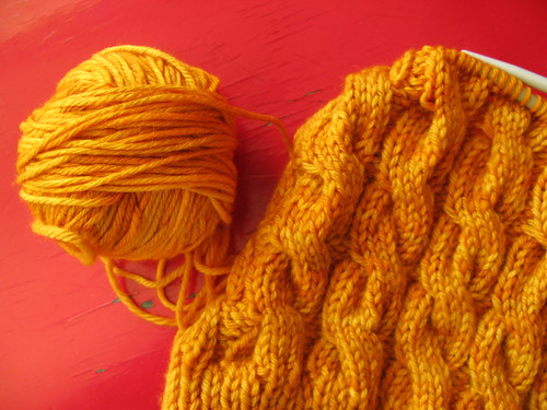 Knitting: yellow