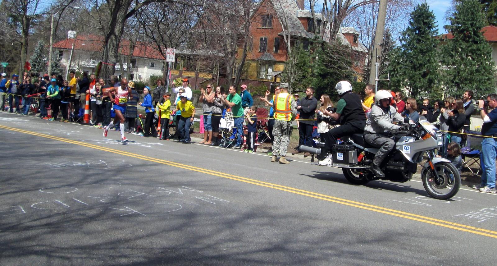 Meb Keflezighi Winner of the 2014 Boston Marathon on Heartbreak Hill