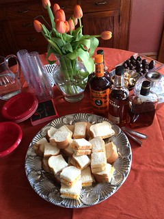 pimiento cheese sandwiches on table