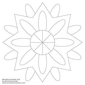 Mandala template 28