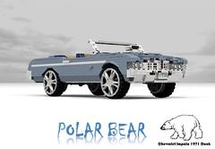 Polar Bear - Chevrolet 1971 Impala Convertible Donk