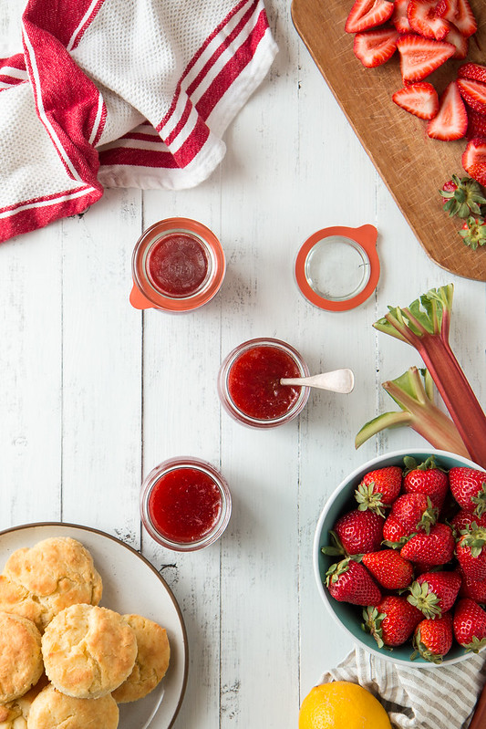 Strawberry Rhubarb Jam | Will Cook For Friends