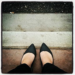 My new pointy shoes, captured @the_bexxxx style :) #waitingforthebus #walkervilleON