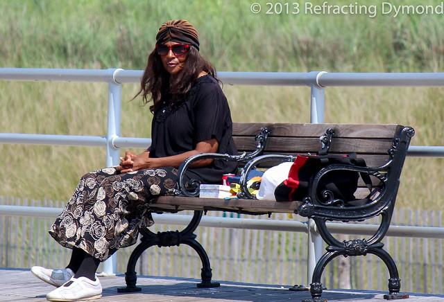 Woman in Atlantic City