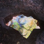 Look out below! A hole in the rock to the river down below. by bartlewife