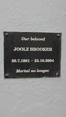 Photo of Joolz Brooker black plaque