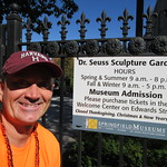 Ryan Janek Wolowski visiting the Dr. Seuss National Memorial Sculpture Garden at the Quadrangle in Springfield, Massachusetts USA