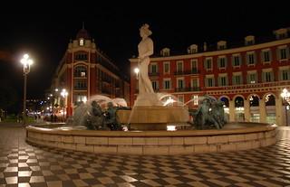 Image of Place Masséna near Nice. nice southoffrance cotedazure frenchriviera nikond802016dsc1168