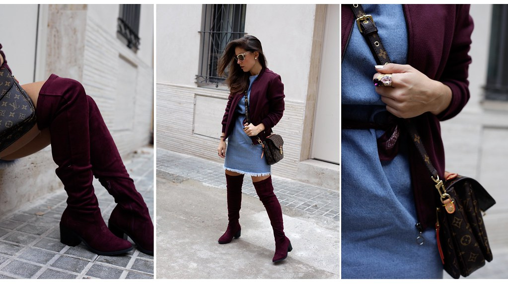014_how_to_wear_bomber_burgundy_outfit_theguestgirl_streetstyle_barcelona