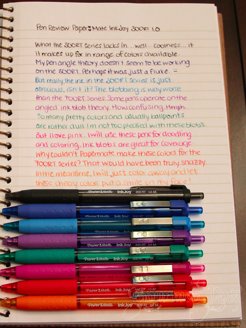Gourmet Pens: Review: PaperMate InkJoy 300RT 1.0mm ...