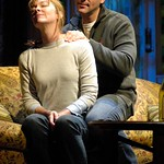 Jordan Lage and Donna Bullock in Huntington Theatre Company's <i>Rabbit Hole</i> at the Boston University Theatre. Part of the 2006-2007 season. Photo: Eric Antoniou.