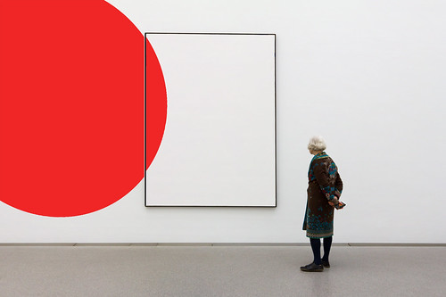 Composition of a Red Shape and a Frame