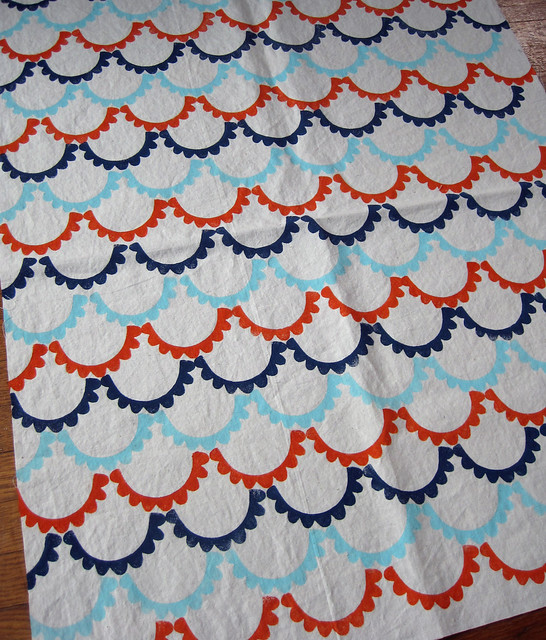 scalloped bunting fabric