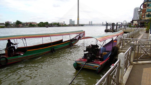 Longtail boats, Chao Phraya River, Bangkok, Thailand
