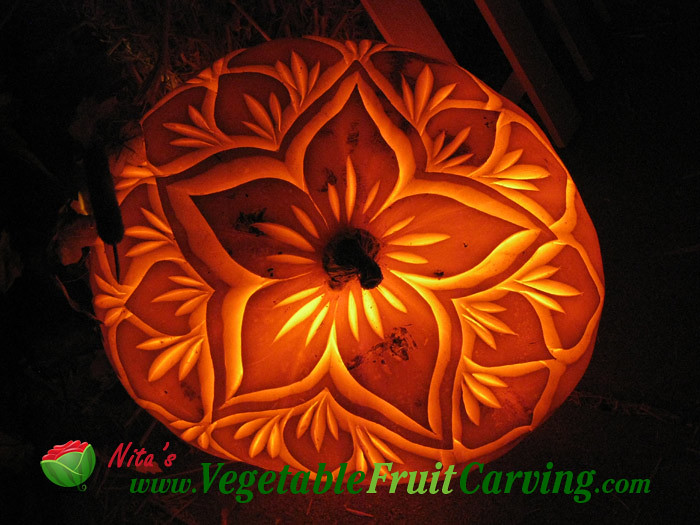 Pumpkin Carving Pretty Flower