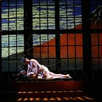 Asian literature scholar Setsuko Hearn (Christine Toy Johnson) and art dealer Darius Wheeler (V Craig Heidenreich) find romance amid deception in the Huntington Theatre Company's production of Naomi Iizuka's