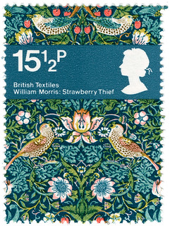 british textiles stamp - william morris