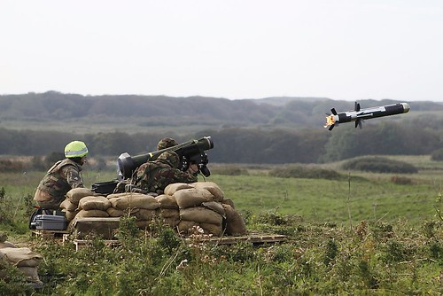RAF Regiment Soldiers Firing Javelin Anti Tank Guided Missile