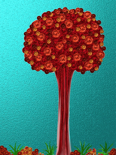 A Children's Tale Tree  (Digital painting. 2012)