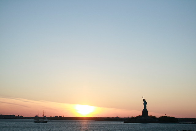 sunset statue