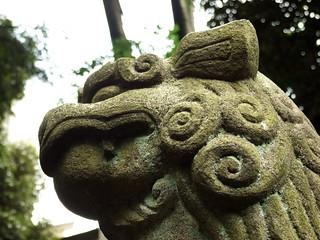 Image of 神明大神宮. 神社 jinja komainu 狛犬