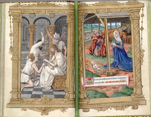017- Burlas a Cristo y la Natividad-HM 1124- fol 61v-62- (C) 2006 The Regents of the University of California. All rights reserved