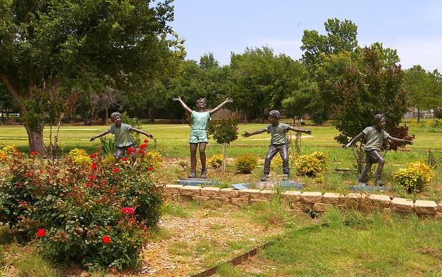Children Playing Kathryn Krautil Wright Chisholm Trail