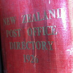 New Zealand Post Office Directory 1926