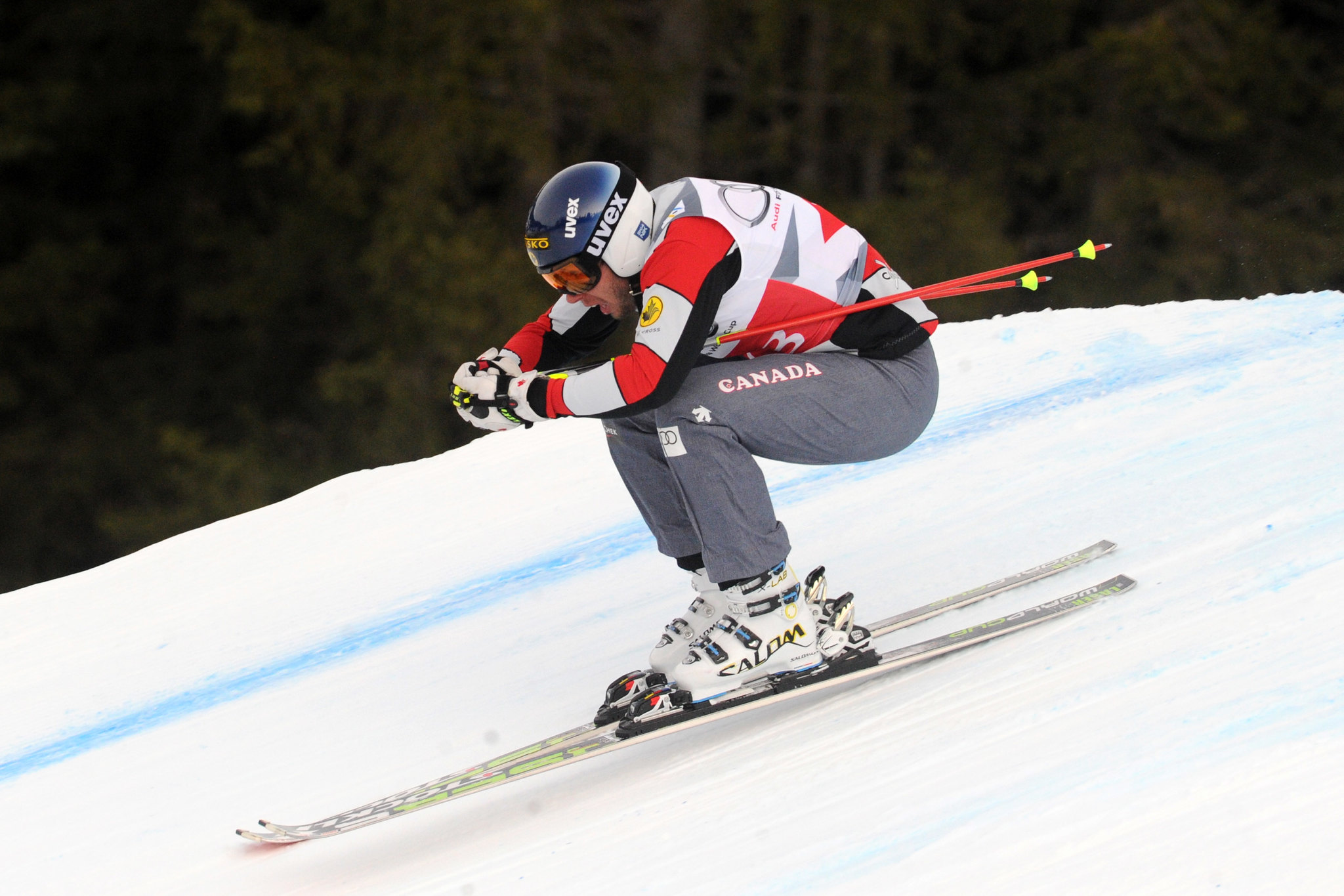 Dave Duncan in a qualifying run at the ski cross World Cup in Innichen/San Candido, Italy.
