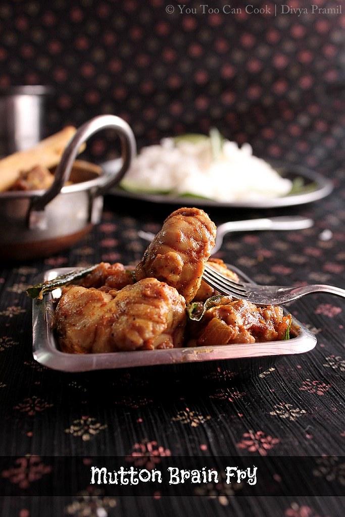 Goat Brain Fry Moolai Varuval You Too Can Cook