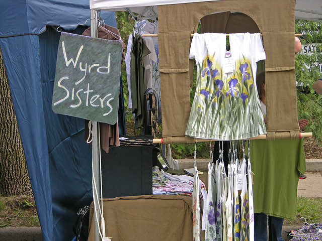 Judson Street Fest 2013 Wyrd Sisters booth