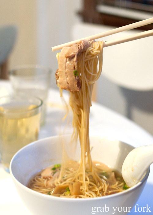ichiran ramen in tonktosu soup at a stomachs eleven japanese dinner
