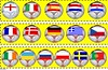 Football Themed Cut-out Borders