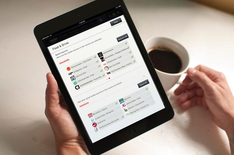 NewsLoop on iPad Mini