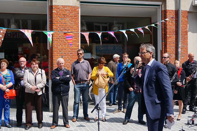 Opening Vernieuwde Tiensestraat 01 juni 2013
